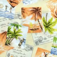 Robert Kaufman/Sevenberry ISLAND PARADISE Vacation Fabric - Maize