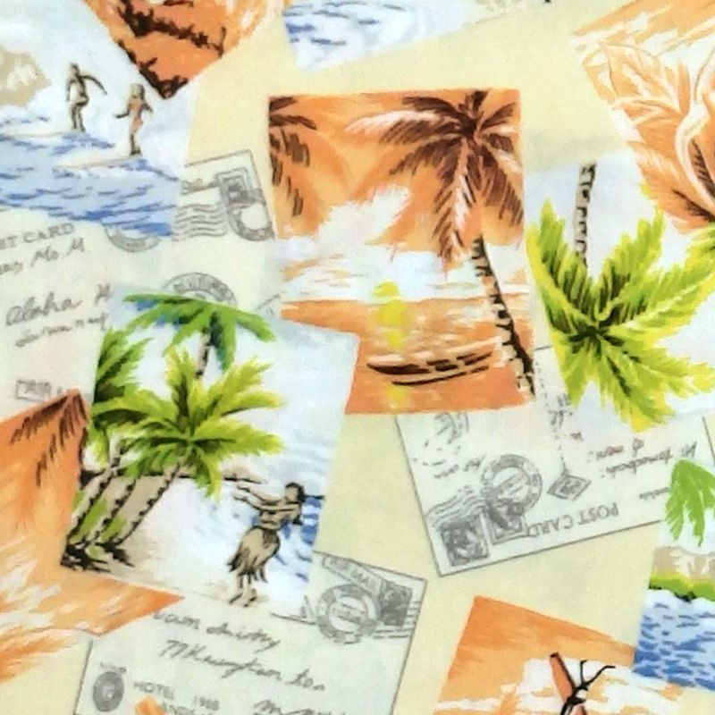 Robert Kaufman / Sevenberry ISLAND PARADISE Vacation Fabric - Maize