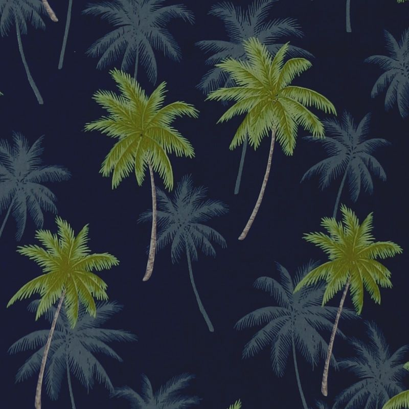 Robert Kaufman/Sevenberry ISLAND PARADISE Palm Tree Fabric - Navy