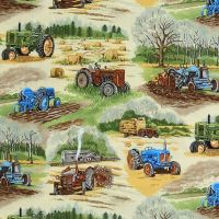 Nutex IN THE COUNTRY Fabric - Tractors