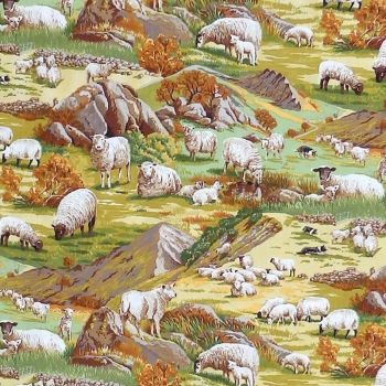Nutex IN THE COUNTRY Fabric - Sheep