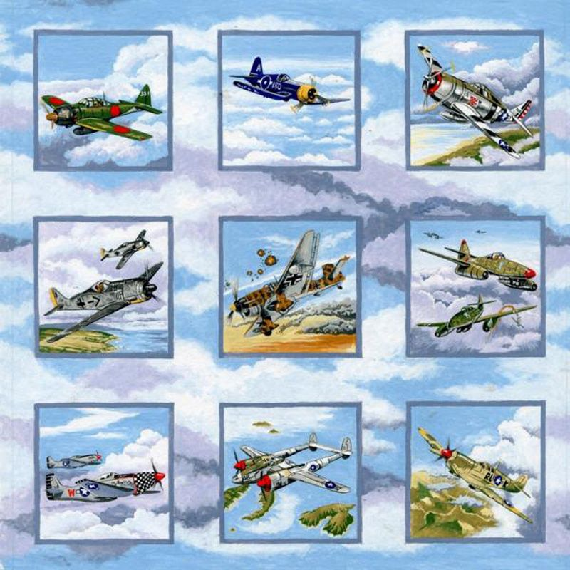 Nutex WARBIRDS Fabric - Squares
