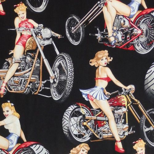 Alexander Henry HOT WHEELS Fabric - Black