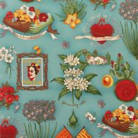 Alexander Henry VIVA FRIDA Fabric - Blue