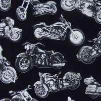 Timeless Treasures MOTORCYCLE FUN Fabric - Black
