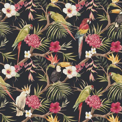 In The Beginning MINI TROPICALS Fabric - Birds