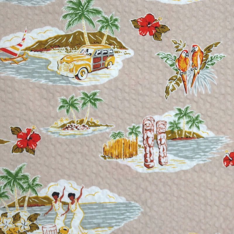 Robert Kaufman/Sevenberry STYLISH ALOHA Plissé Fabric - Sand