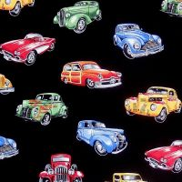 Nutex HOT RODS Fabric - Black