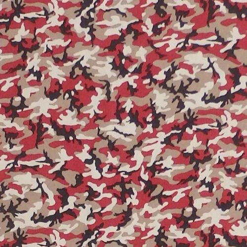 Sevenberry MINI CAMOUFLAGE Fabric - Red