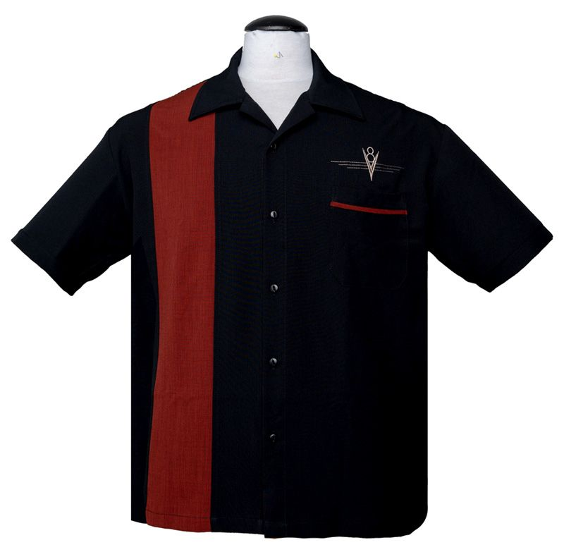 Steady Clothing V8 Classic Button Up Shirt - Black / Rust
