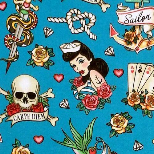 Jo-Ann Fabrics FOUR OF A KIND SAILOR Fabric - Blue