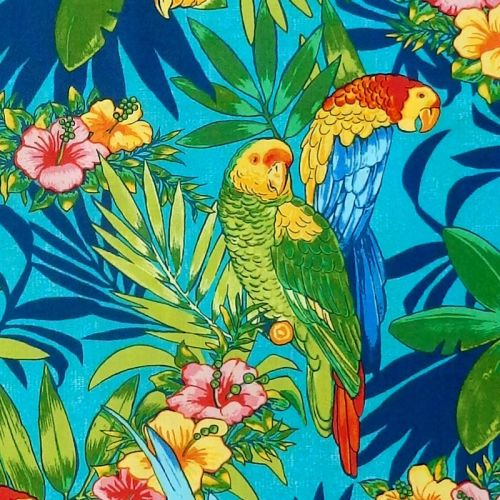 Connecting Threads FRONDS & BLOSSOM Fabric - Parrots