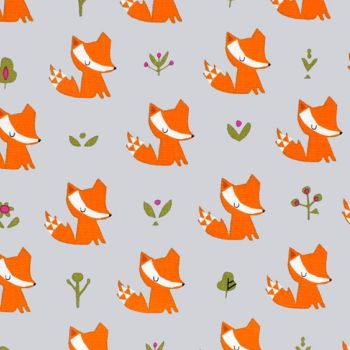 Dashwood Studio WALK IN THE WOODS Fabric - Foxes