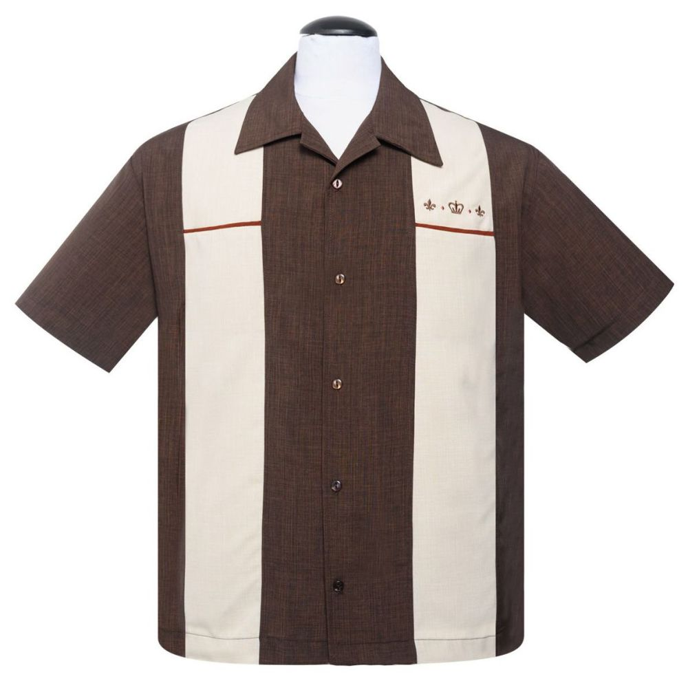 Steady Clothing Regal Button Up Shirt - Brown
