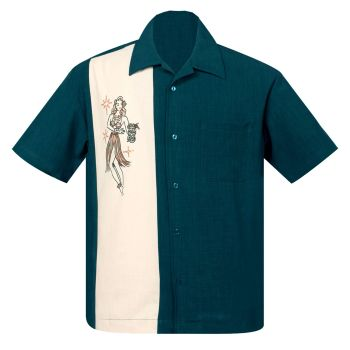 Steady Clothing Mai Tai Mirage Button Up Shirt - Teal