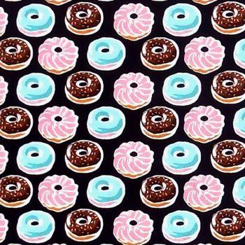 Robert Kaufman / Sevenberry DONUTS Fabric - Black
