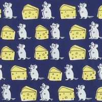 Sevenberry CHEESY MICE Fabric - Blue