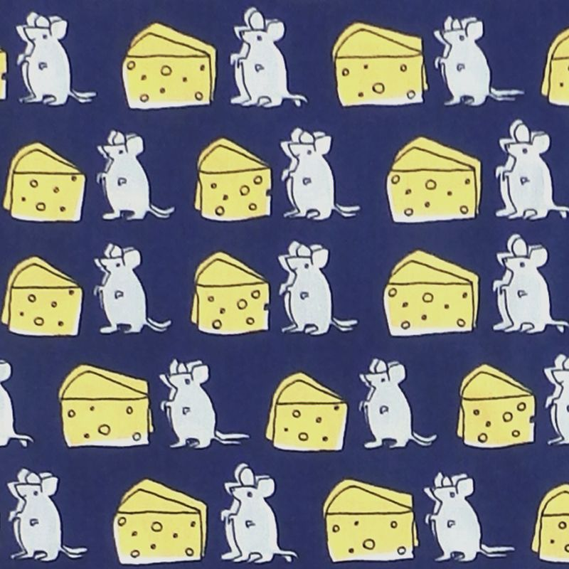 Sevenberry CHEESY MOUSE Fabric - Blue
