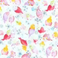 Sevenberry PARROT Fabric - White