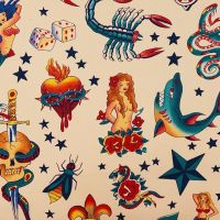 Alexander Henry TATTOO Fabric - Natural