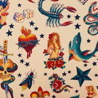 Alexander Henry TATTOO Fabric - Natural