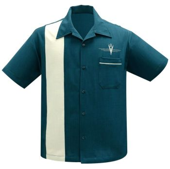 Steady Clothing V8 Classic Button Up Shirt - Teal / Stone