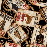 Kanvas Studio WILD WILD WEST, MOST WANTED Fabric – Multi