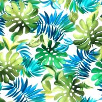Michael Miller LOST IN PARADISE - LAVISH LEAVES Fabric - White