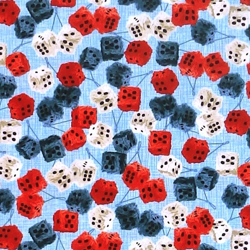 Studio E AMERICAN MUSCLE Fabric - Fluffy Dice