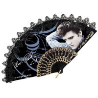 Elvis Lacy Hand Fan - Blue Sweater