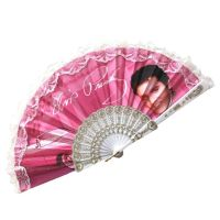 Elvis Lacy Hand Fan - Pink Cadillac