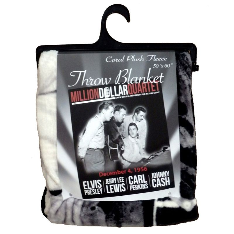 Elvis Million Dollar Quartet Fleece Throw