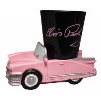 Elvis Shot Glass with Pink Cadillac Base