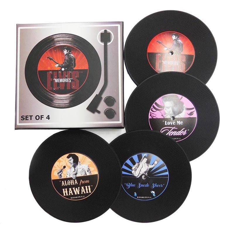 Set of 4 Elvis Record Coasters