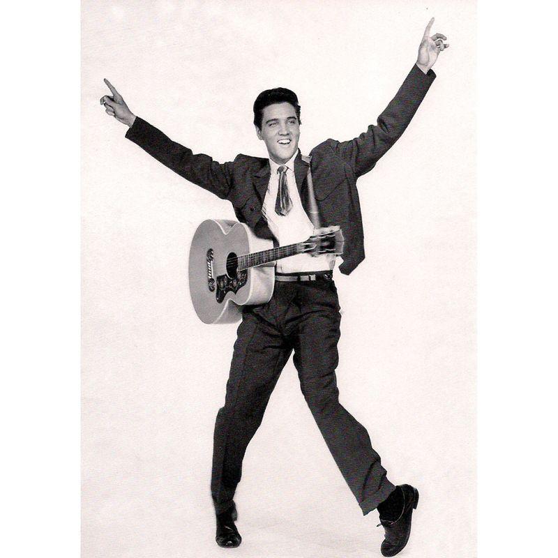 'Elvis Presley' with Guitar Greeting Card