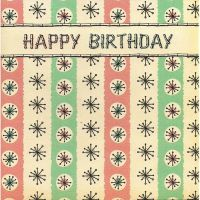 'Atomic' Happy Birthday Card