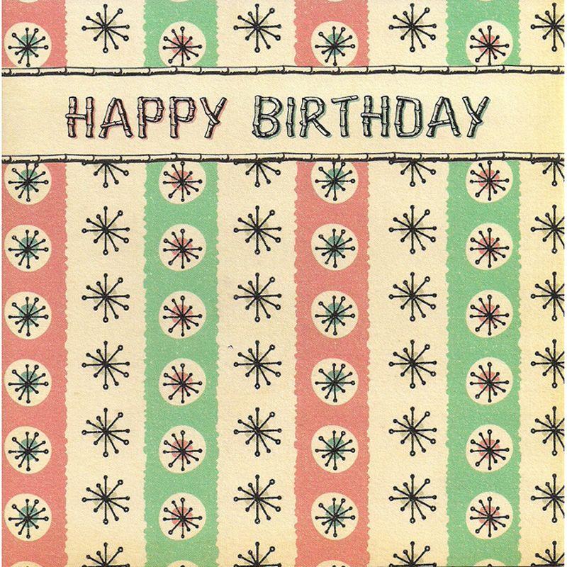 'Atomic' Happy Birthday Card