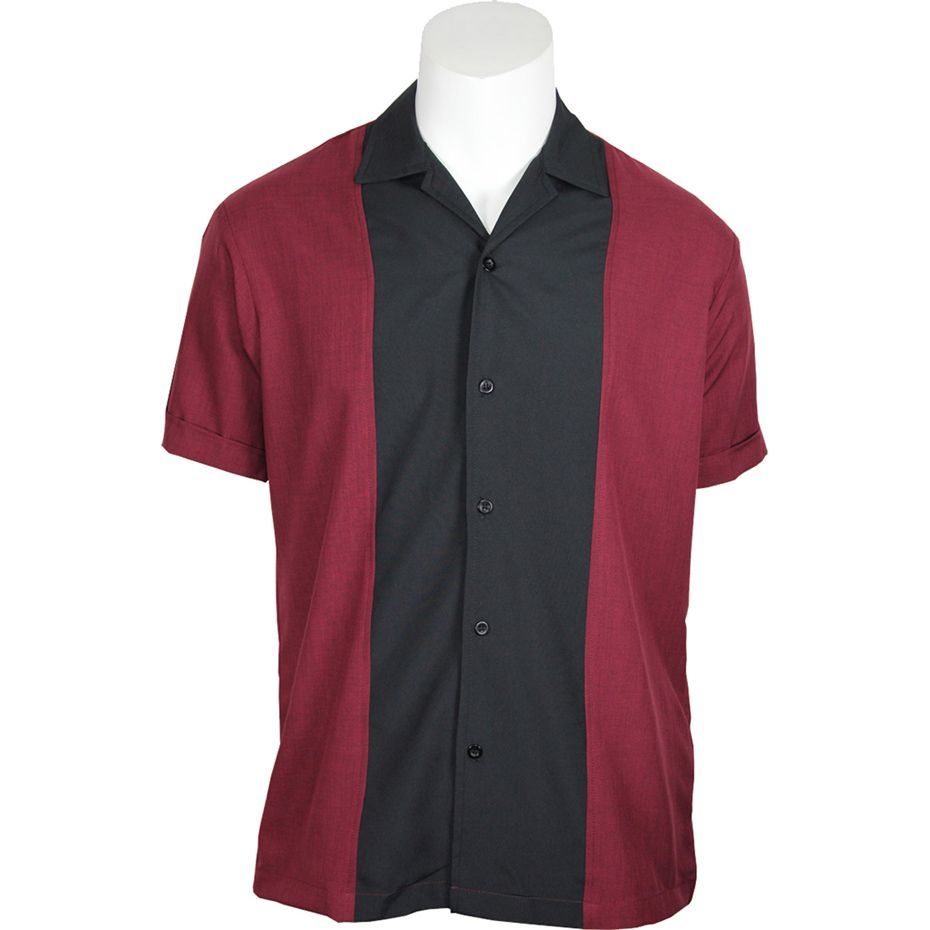Daddy-O's Hudson Button Up Shirt - Burgundy / Black