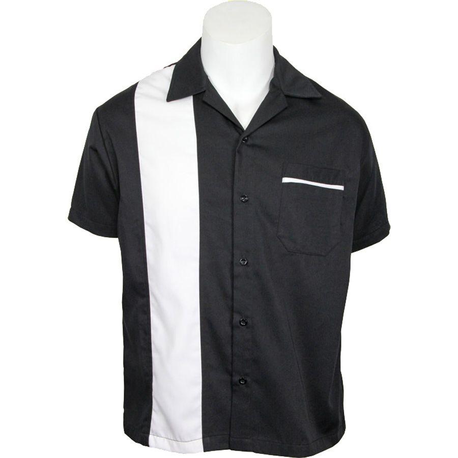 Daddy-O's Sammy Button Up Shirt - Black / White