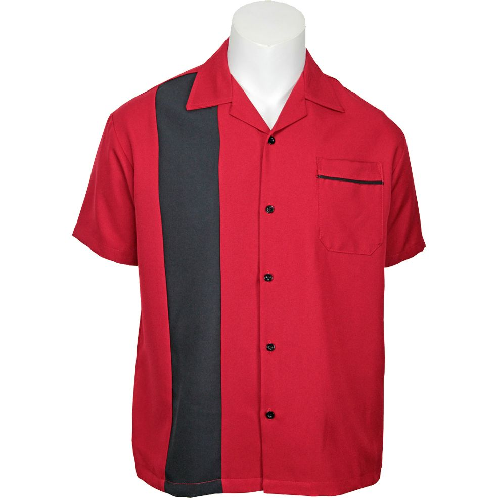 Daddy-O's Sammy Button Up Shirt - Red / Black