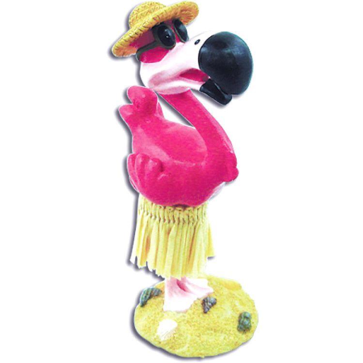 """4"""" Miniature Hawaiian Dashboard Hula Flamingo"""