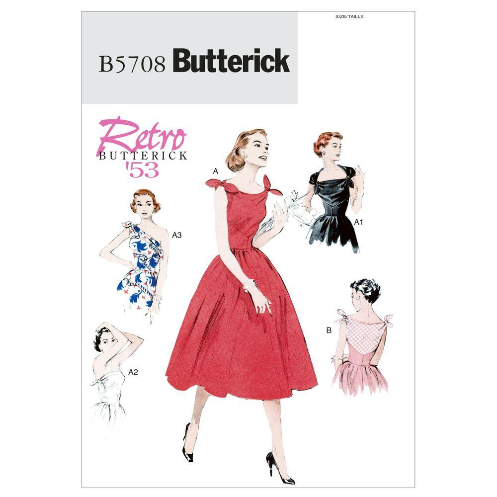 Butterick Retro Dress Pattern - B5708