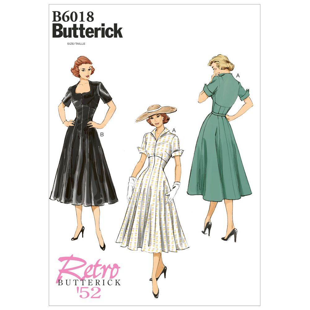 Butterick Retro Dress Pattern - B6018