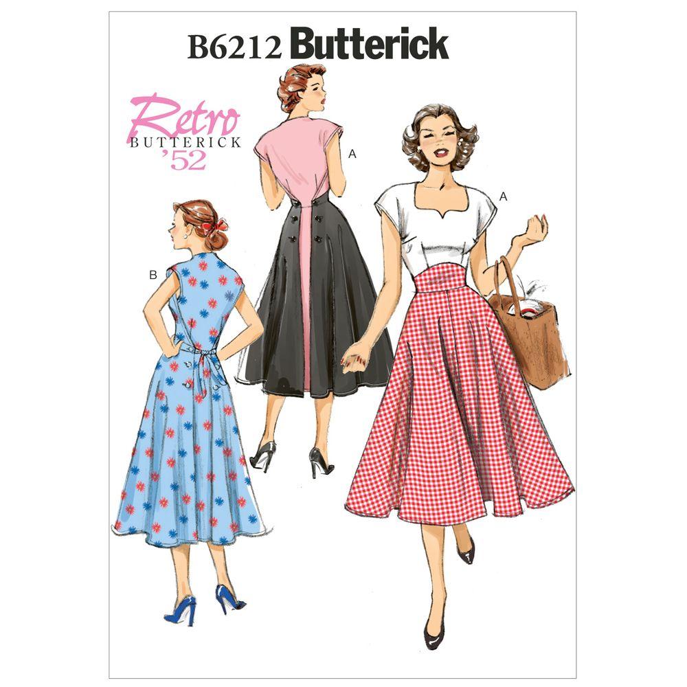 Butterick Retro Dress Pattern - B6212
