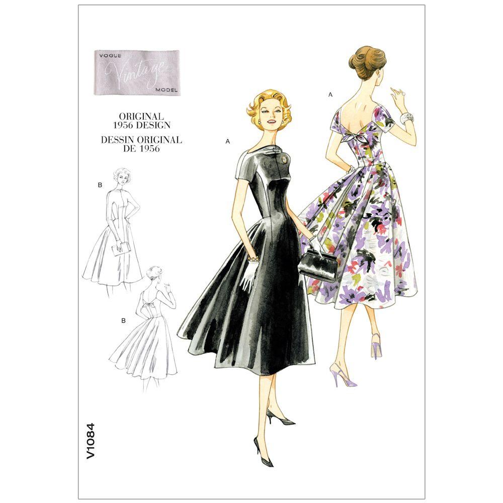 Vintage Vogue Dress Pattern - V1084