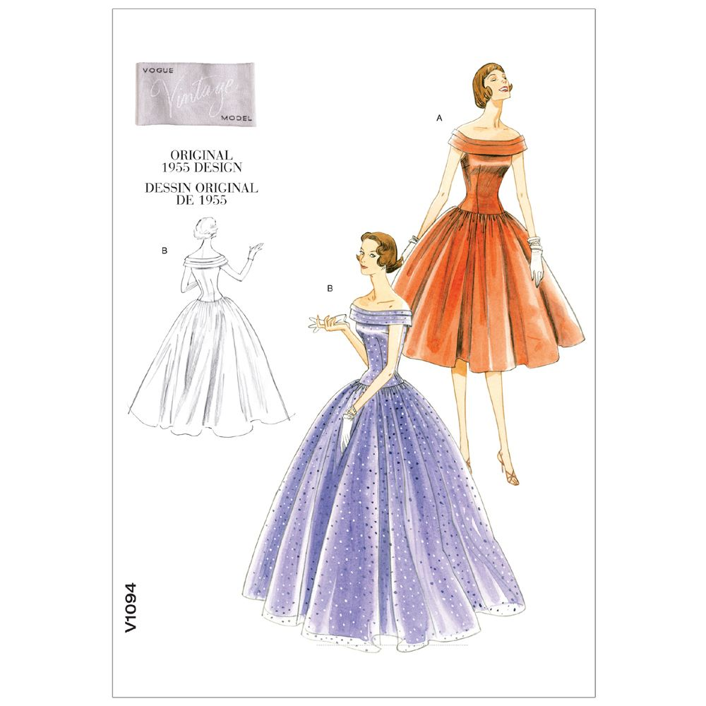 Vintage Vogue Dress Pattern - V1094
