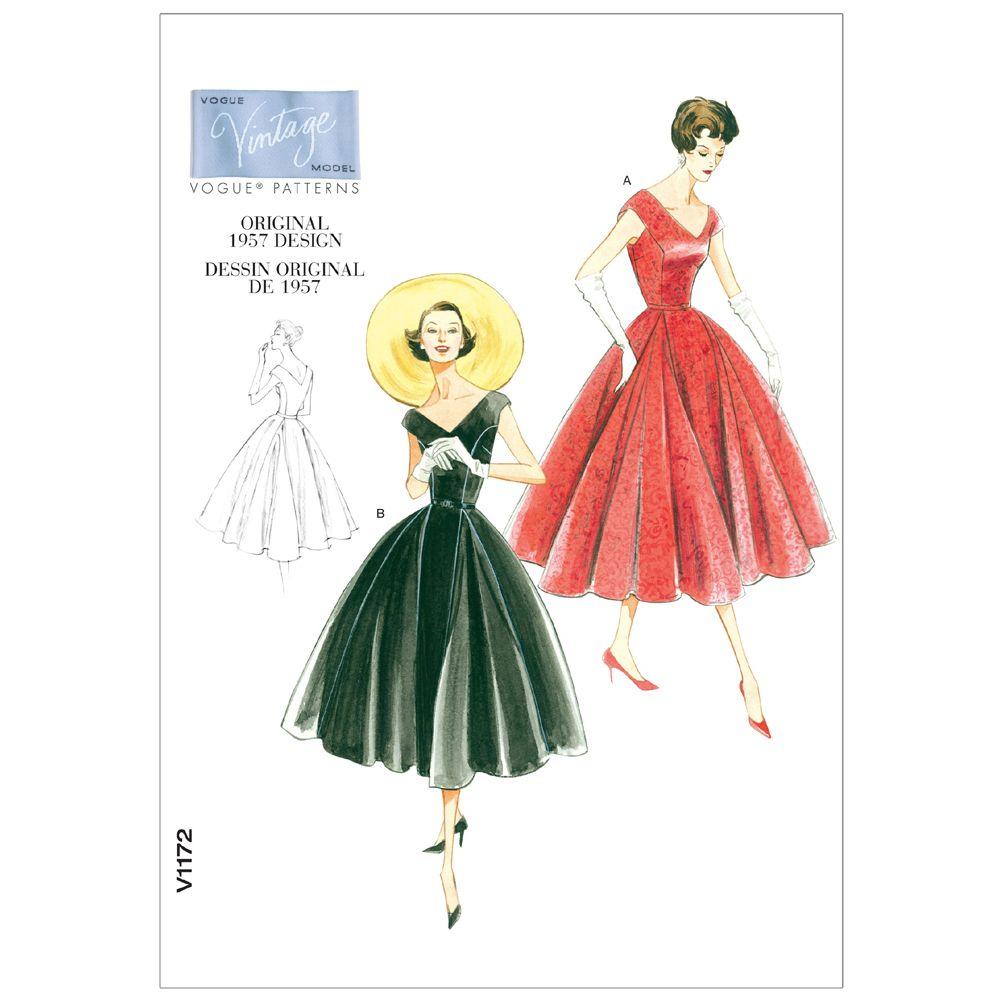 Vintage Vogue Dress Pattern - V1172