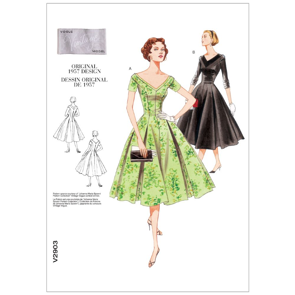 Vintage Vogue Dress Pattern - V2903