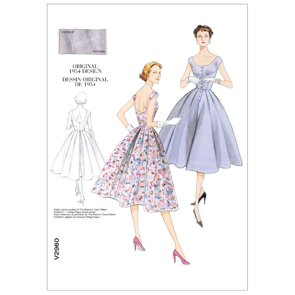 Vintage Vogue Dress Pattern - V2960