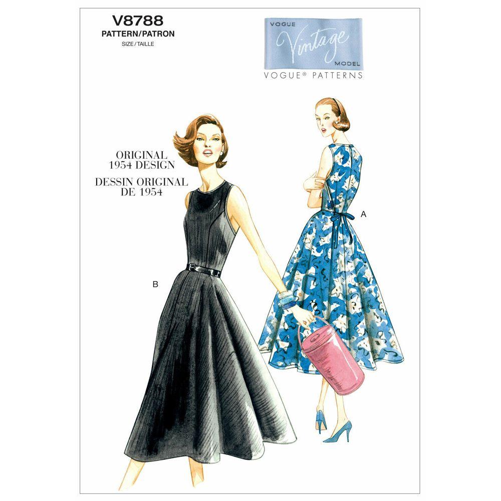 Vintage Vogue Dress Pattern - V8788